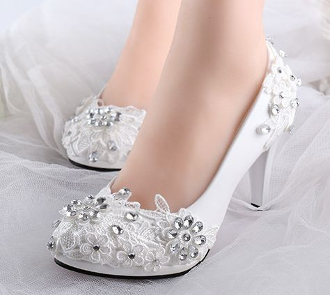 bridal diamond shoes