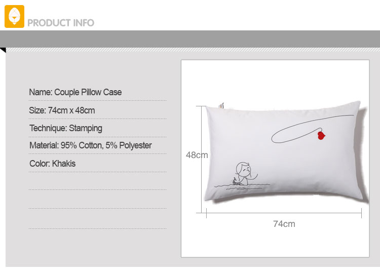 couple pillow case