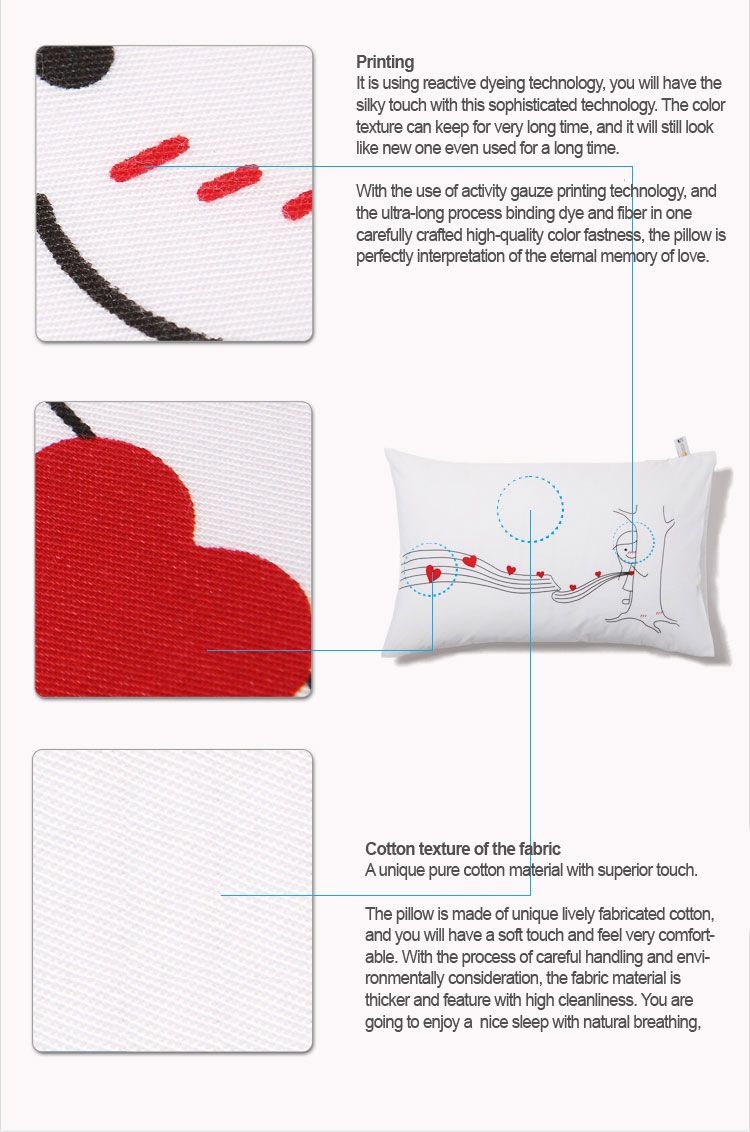 couple printed pillow case
