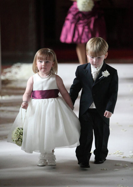 bridemaid and pageboy