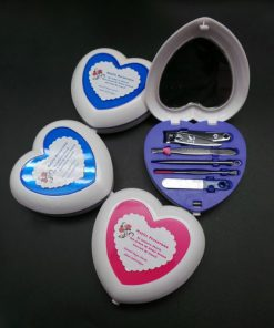 love shaped manicure set