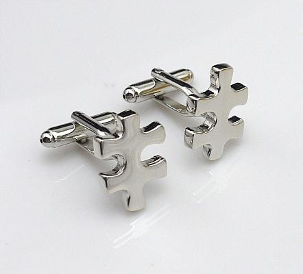 Puzzle piece cufflinks