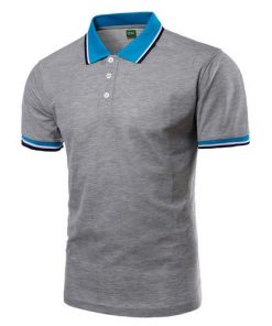 Men Polo Shirt Short Sleeve Grey
