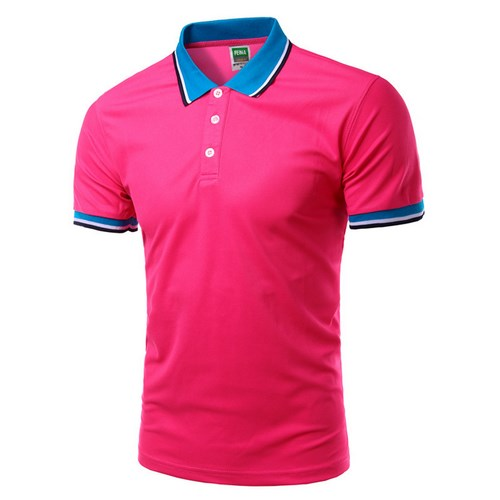 Men Polo Shirt Short Sleeve Red