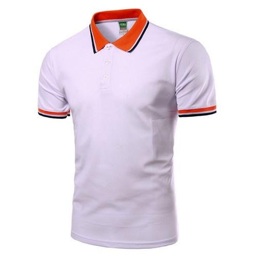 Men Polo Shirt Short Sleeve White