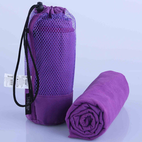 Microfiber Gym Towel With Zip: Microfiber Gym Towel With Bag