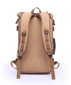brown backpack back