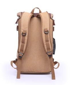 brown backpack back