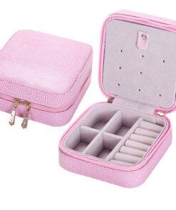 jewelry storage box pink