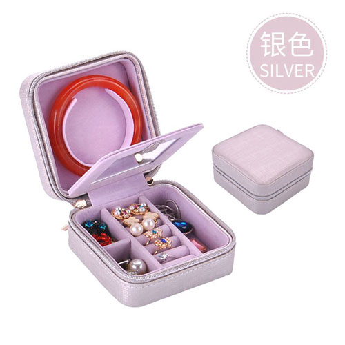 jewelry storage box - silver